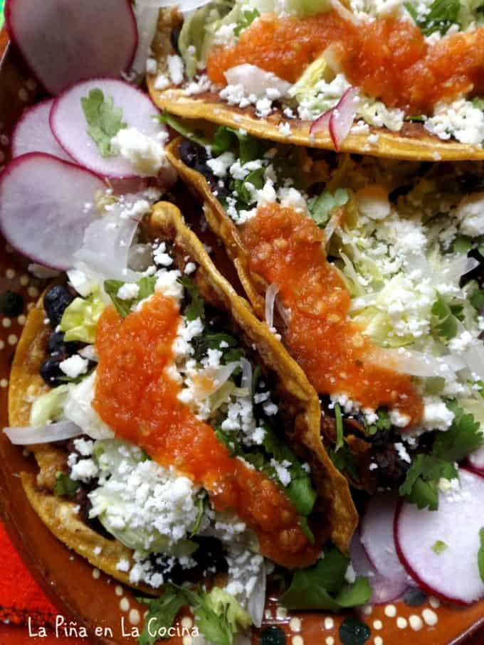 Black Bean and Chorizo Tacos