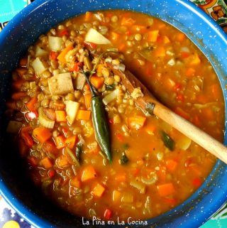 Lentils with Vegetables (Lentenjas Con Verdura)
