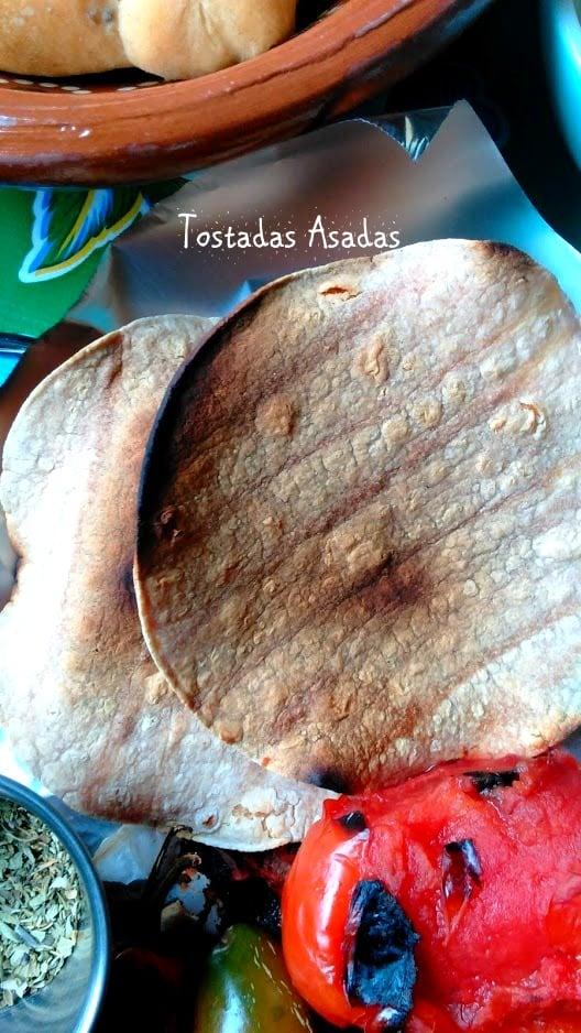 Charred corn tortillas