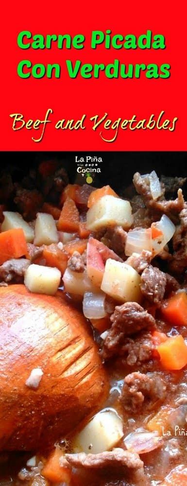 Carne Picada Con Verduras Pinterest Image