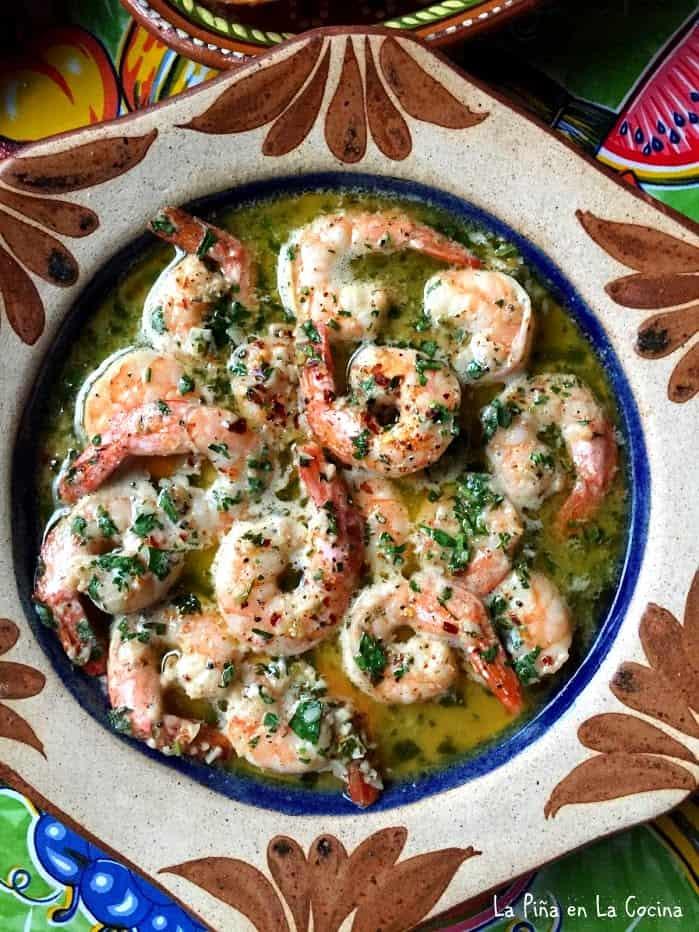 Camarones Al Mojo De Ajo Garlic Shrimp La Piña En La Cocina