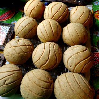 Pumpkin Bread Conchas