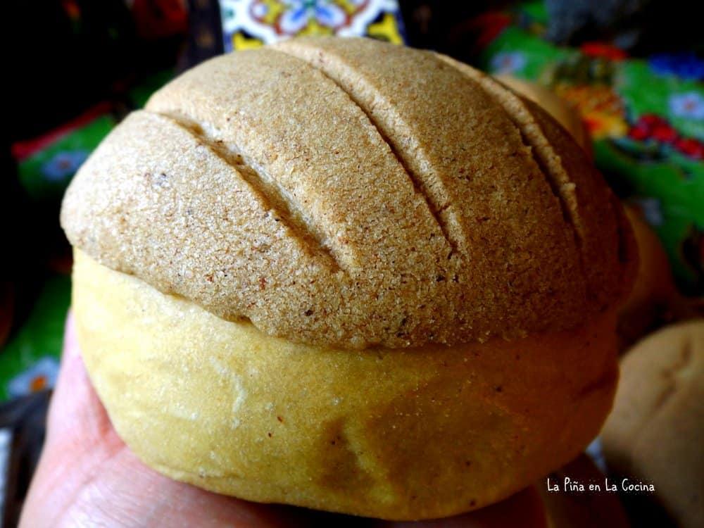 Pumpkin Bread Conchas Close up