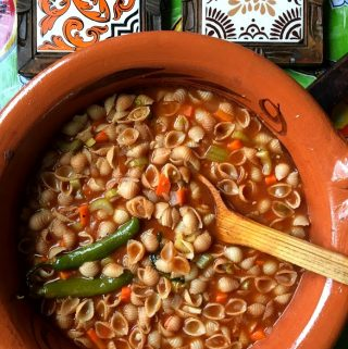 Sopa de Conchas – Mexican-Style Pasta