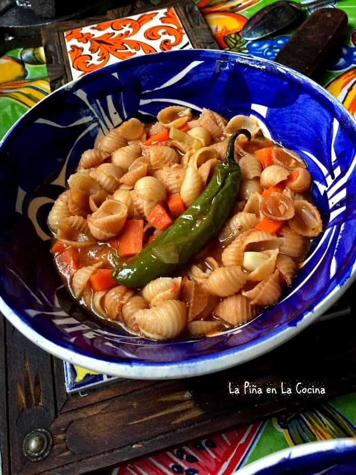 Sopa De Conchas Mexican Style Pasta La Pi 241 A En La Cocina