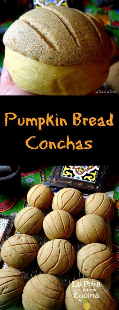 Pumpkin Bread Conchas Lon Pinterest image