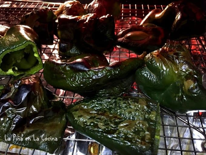 roasting poblanos in the oven