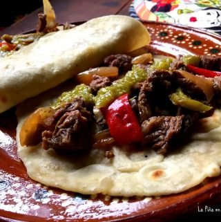 Skillet Skirt Steak Tacos! Fajitas!