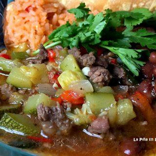 Beef with Calabacitas (Squash)