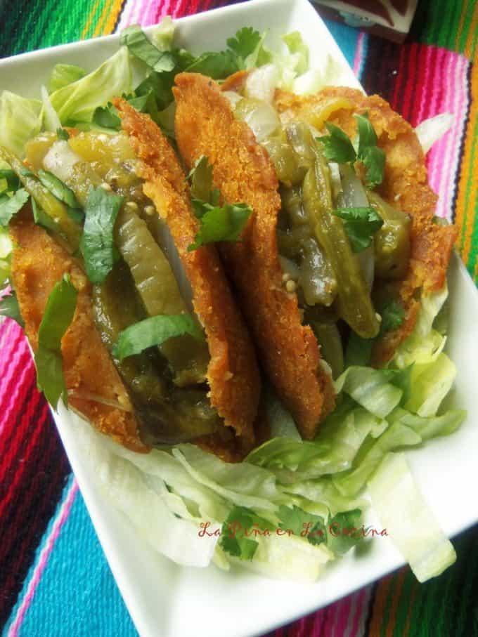 Nopalitos Con Rajas en Salsa Verde #nopalitos #cactus #lent #cuaresma