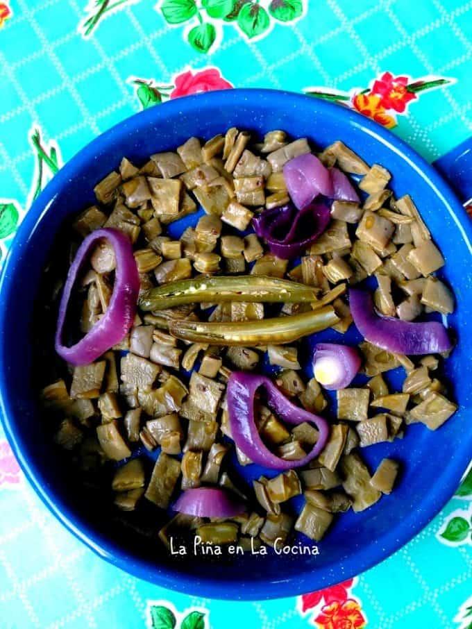 Nopalitos #nopalitos #cactus #lent #cuaresma #cookingnopales
