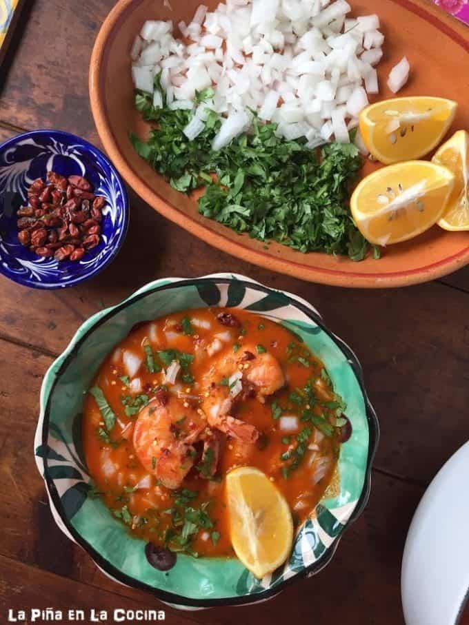 Caldo de Pescado y Camaron (Seafood Soup) #caldodepescado #fishsoup