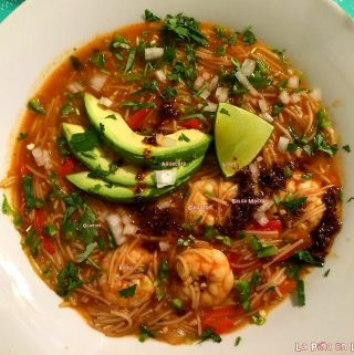 Fideo Con Camaron (Pasta with Shrimp)