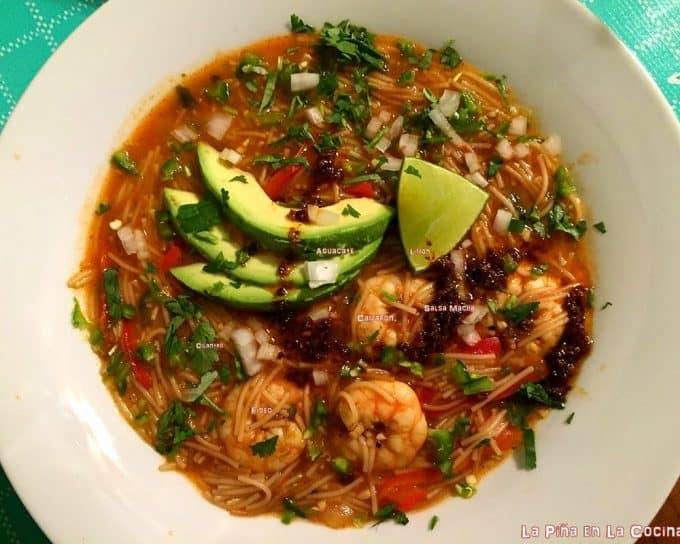 Fideo Con Camaron (Pasta with Shrimp) #fideo #shrimp