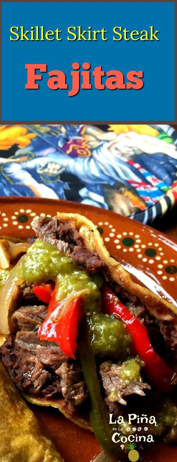 Skillet Skirt Steak Fajitas #fajitas #skirtsteak #tacos