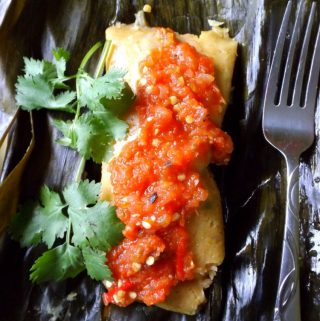 Shrimp and Rice Tamal