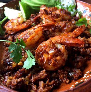 Spicy Chorizo and Shrimp