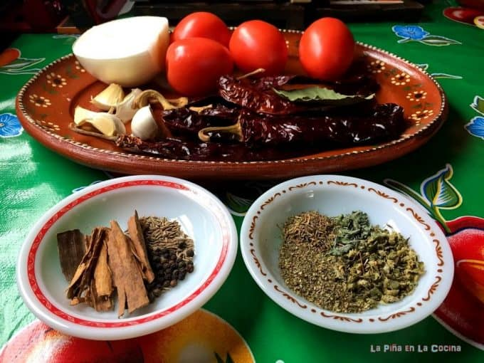 Ingredients For Birria de Res Con Consome