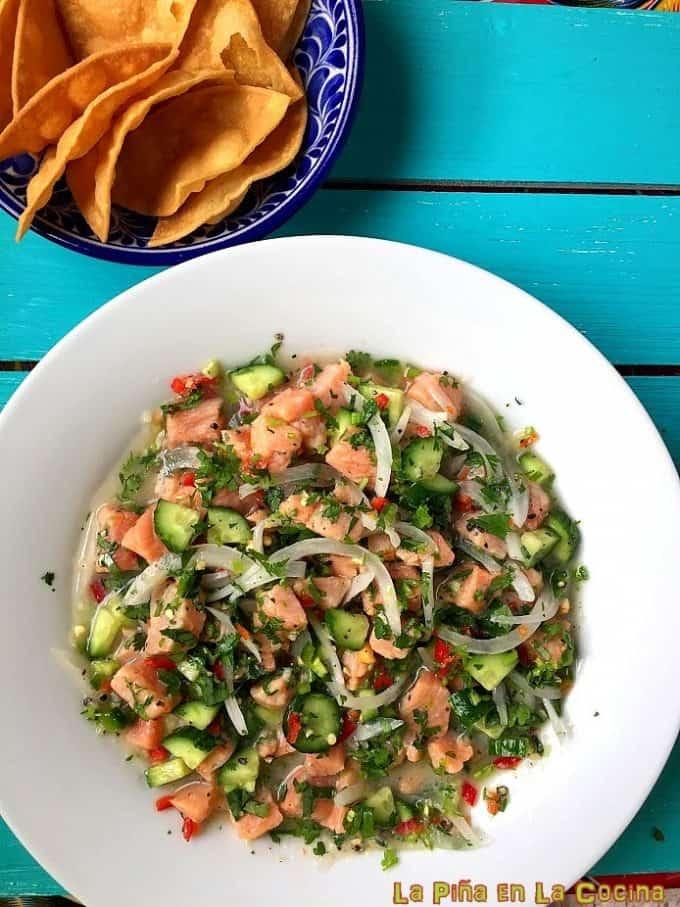 Salmon Ceviche #salmonceviche #ceviche #fishceviche
