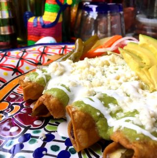 Flautas de Rajas Con Queso! Poblano and Cheese!
