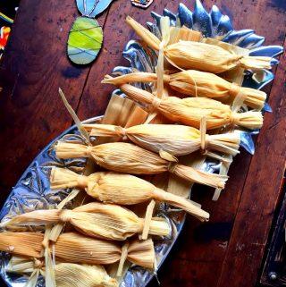 Tamales de Piña y Nuez con Cajeta~ Sweet Tamales