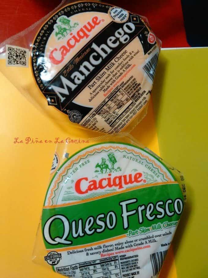 Cheese varieties used for tamales