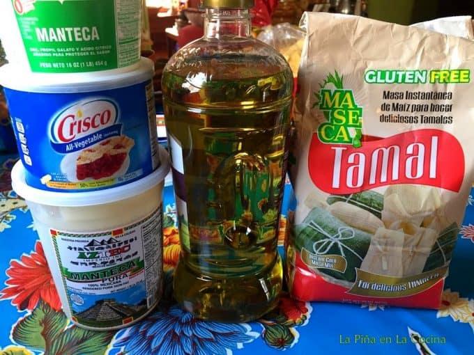 Ingredients to prepare basic masa