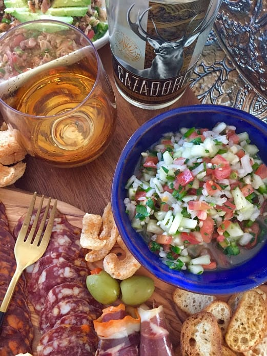 Cazadores Tequila Añejo Cristalino Paired with Fresh Salsa and Charcuterie Board