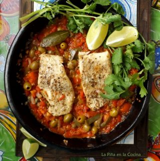 Veracruz-Style Fish in Clayware Pan With Sauce
