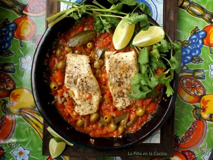 Veracruz-Style White Fish On The Table in Clayware Pan