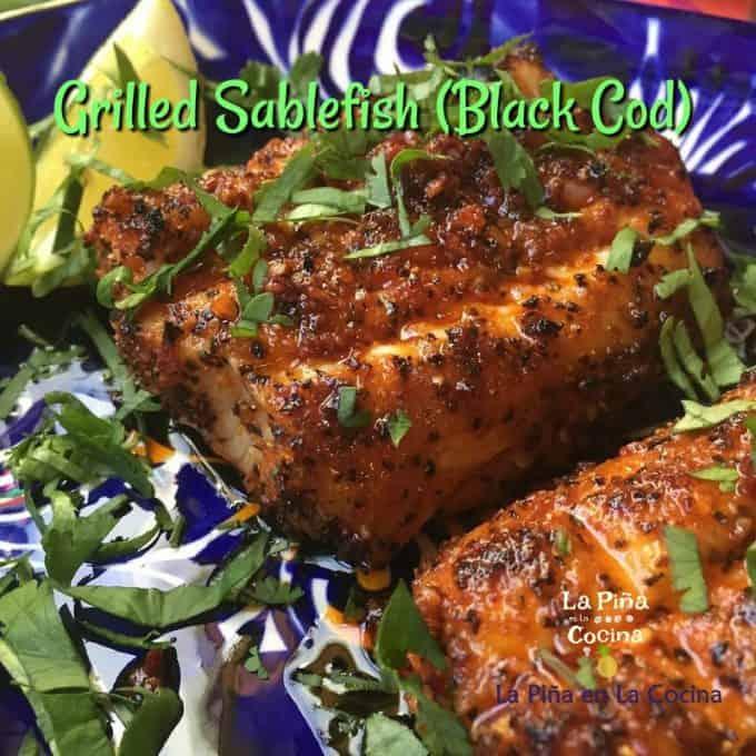 Grilled sablefish Pinterest Image