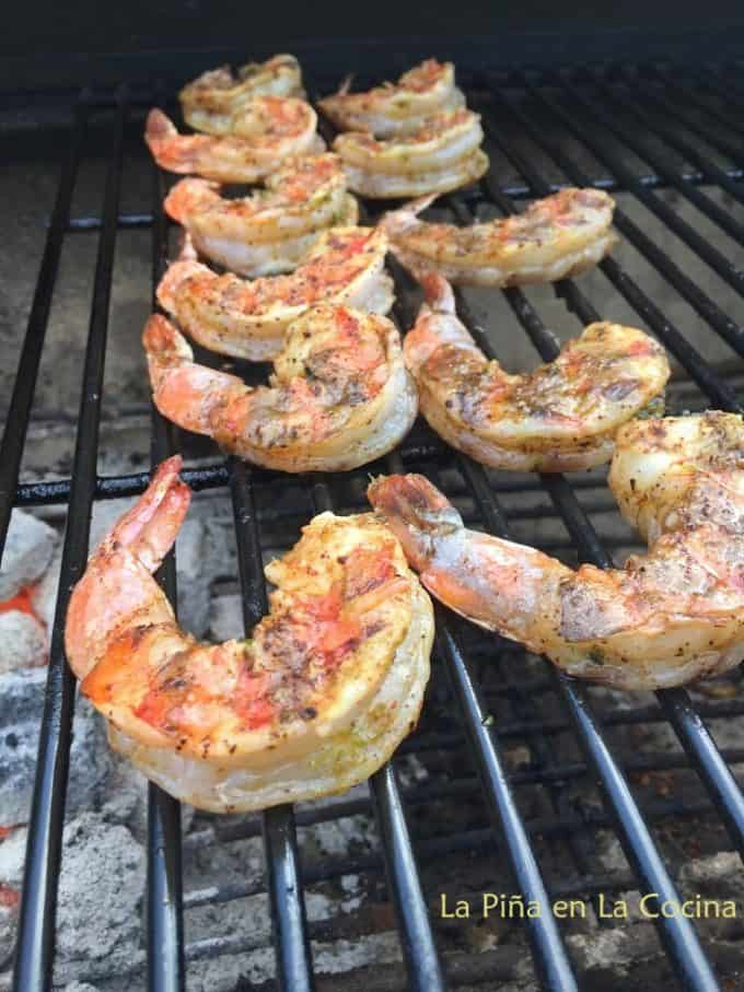 Shrimp on Charcoal Grill