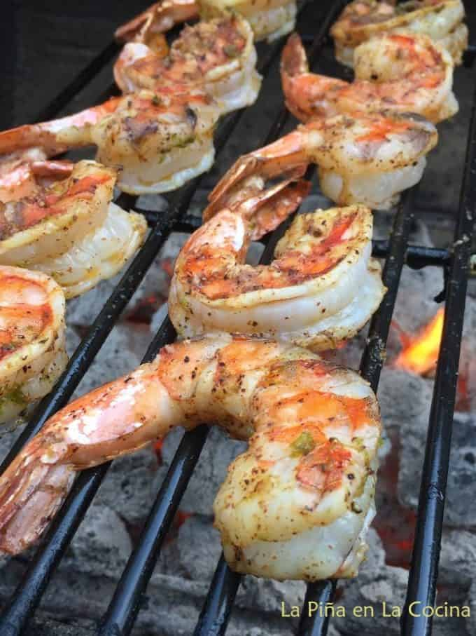 Shrimp o the charcoal grill