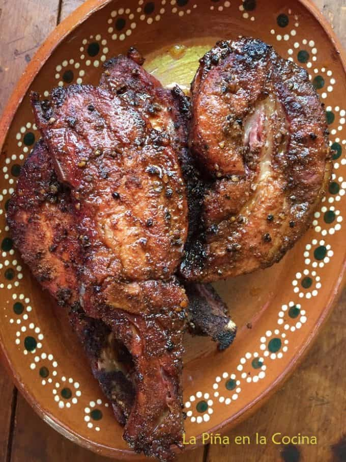 Grilled Chile Ancho Pork Ribs