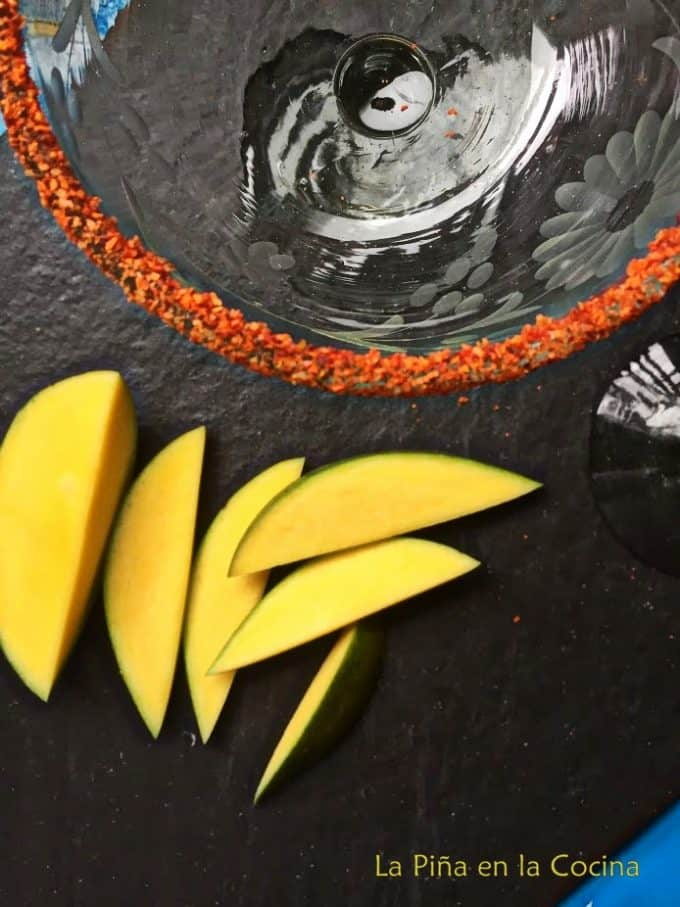 Mango Margarita with Chamoy- Mangonada