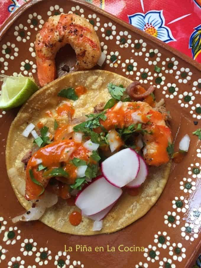 Grilled Shrimp Taco Plated
