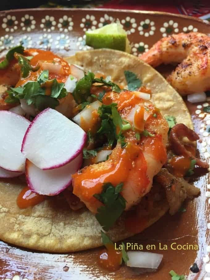 Grilled Shrimp Taco Close up