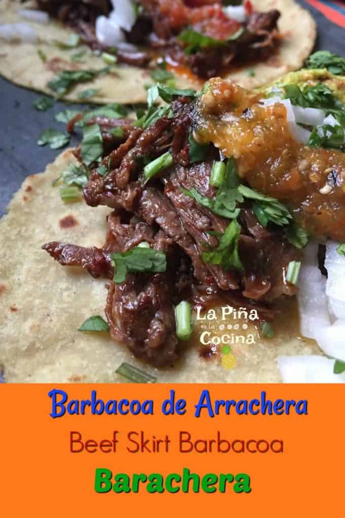 Barbacoa Taco with Title Pinterest image