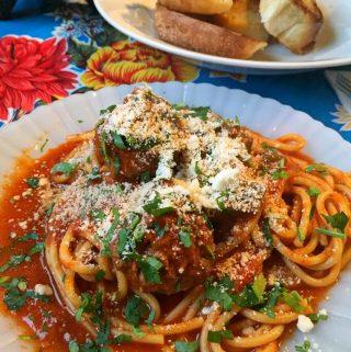 Spaghetti and Meatballs- Espaghetti