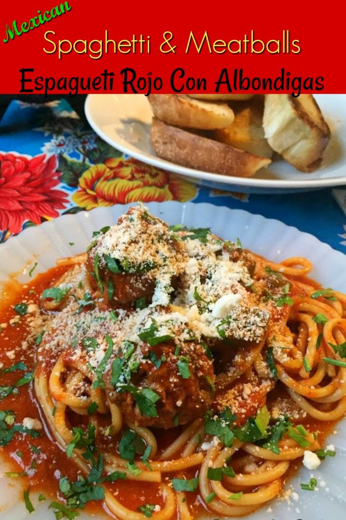Pinterest image of Spaghetti and Meatballs