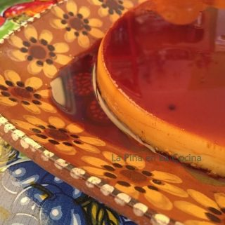 Flan on Mexican platter