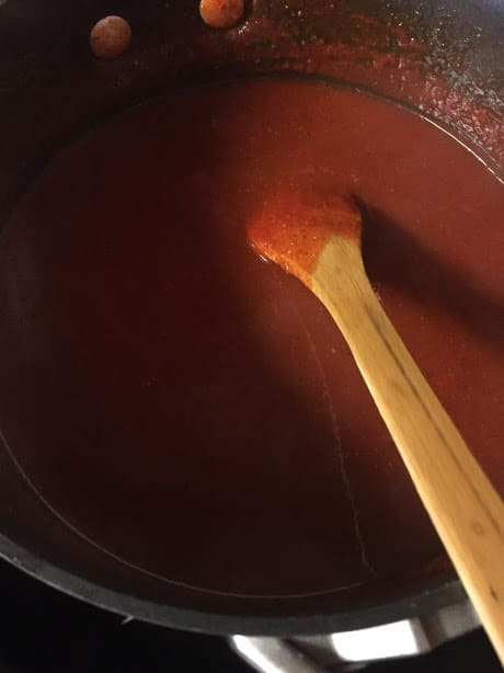 red chile sauce/adobo