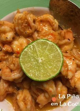 spicy butter shrimp in a bowl