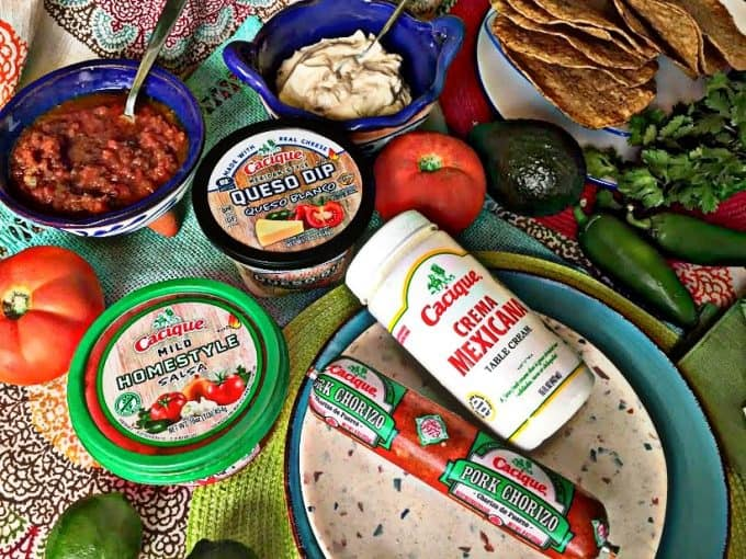 landscape photo of Cacique products on the table