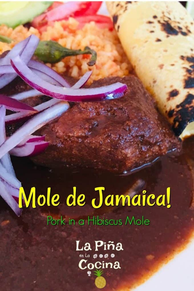 Pinterest image mole de jamaica with text