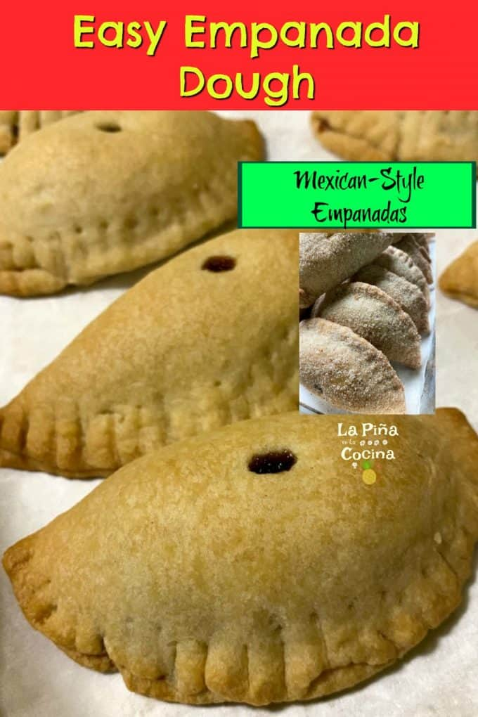 Pinterest image with header for easy emapanada dough