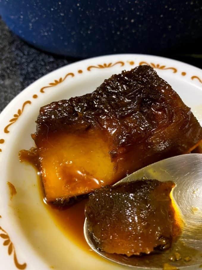 Wedge od pumpkin in syrup
