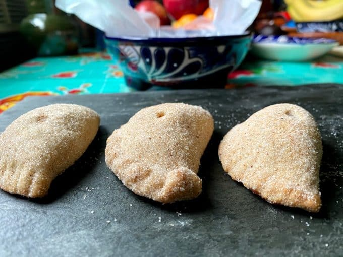 Three empanadas side by side
