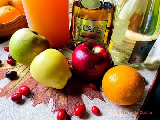 Fall sangria ingredients