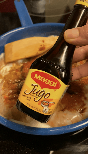 bottle of maggi brand seasoning